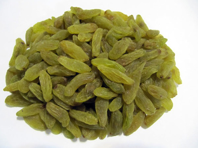 Iranian long green raisins
